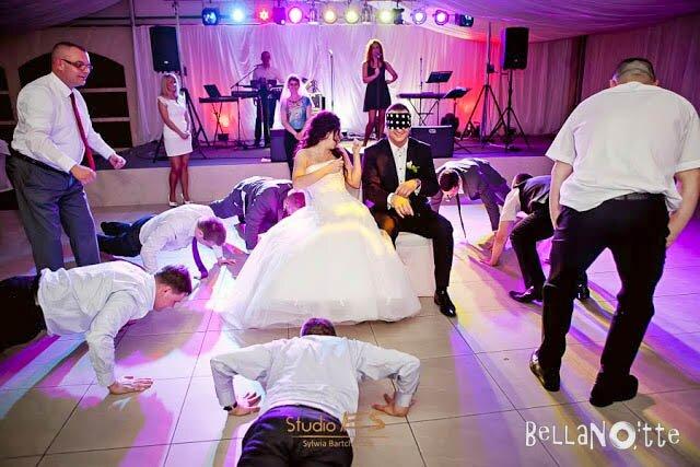 wybór Pary Młodej wesele oczepiny
